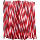 CICMOD Rayon Jante de Protection de Tube de Garniture de Couverture de Manteau 72 Pièces Pailles Universelles pour Vélos (Rouge + Blanc)