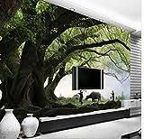 Photo Fond D'écran 3D Personnalisé Naturel Lumière Du Soleil Green Eye Forêt Paysage Papier Peint Pour Mur 3D Chambre À Coucher Pour Le Salon Fond