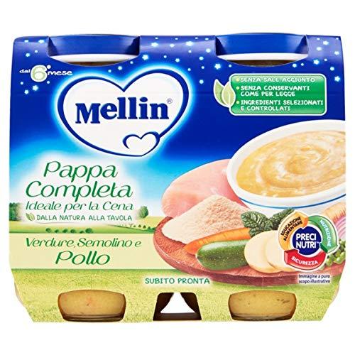 Mellin pappa completa verdure semolino pollo 2x200g