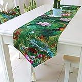 MAFYU Qualität Tischläufer Baumwolle Bettwäsche Fahne grün Couchtisch Tischfahne Bett tail Handtuch