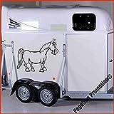 lustiges Pferd Modell 1 Aufkleber Anhänger Pferd Anhänger ca.80x60cm