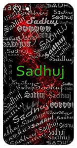 Sadhuj (Good Conduct) Name & Sign Printed All over customize & Personalized!! Protective back cover for your Smart Phone : LG G3 Beat