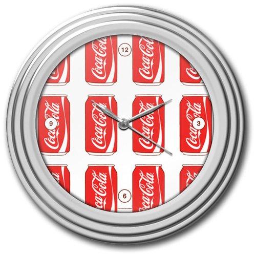 Trademark Gameroom Coca-Cola Uhr aus Chrom, 30,5 cm -