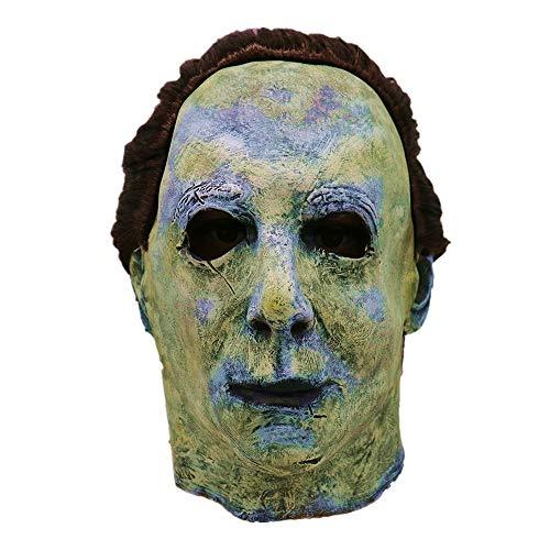 Nachtclub Maske | Cosplay Michael Myers Schmelz Gesicht Overhead Latex Kostüm Prop Scary Maske Spielzeug (Für Baby-kostüm Scary Erwachsene)