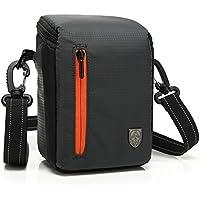 First2savvv BDV2501 nero qualità di lusso di nylon del cassa della macchina fotografica per FUJIFILM X100T panasonic LUMIX LX100 SONY HDR-PJ350BDL Con lente panno di pulizia