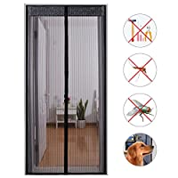 SearchI Magnetic Screen Door, Heavy Duty Mesh & Full Frame Hands-Free Auto Shut Curtain Fly Mosquito Bug Insect Screen for Sliding Glass Door French Door Patio Door 36 x 83 by Nuanyuer