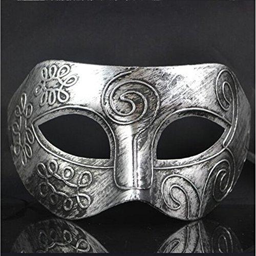 n Maskerade Herren Venezianischen Kostüm Party Maske coole punk Griechisch (Silber) (Griechische Masken Und Kostüme)