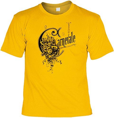 Cooles Karneval Motiv Sprüche Kostüm: Carnevale (Größe: XXL) T-Shirt Farbe: gelb