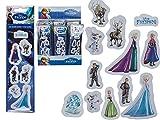 Kamaca Spar - Paket : 6 x Tüte mit 3 D - Aufklebern mit Frozen - Motiven (Anna,ELSA usw) - Tolles Mitgebsel/Geschenk für Geburtstag und Party- Neu Shop