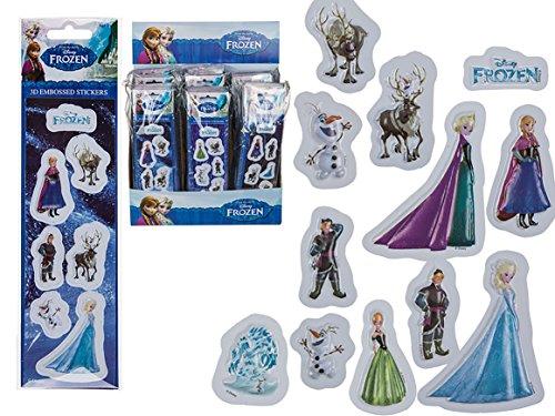 SPAR - PAKET : 6 x Tüte mit 3 D - Aufklebern mit FROZEN - Motiven ( Anna ,Elsa usw ) - tolles Mitgebsel / Geschenk für Geburtstag und Party- NEU aus dem Kamaca-Shop