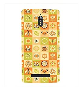 Fuson Premium Printed Hard Plastic Back Case Cover for Oppo Find 7