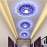 Crystal Hall LED Light Corridor Veranda, die Flurlampe deckenleuchte einbauleuchte Beleuchtung Decke innen Lampen,blau