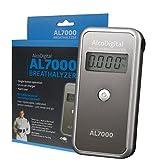 AlcoDigital ETILOMETRO DIGITALE PORTATILE AL 7000 NERO con Sensore sostituibile + Valigetta rigida. Tutti gli accessori inclusi - DELUX