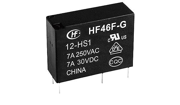 Hongfa HF46F-G//012-HS1 Rel/è per PCB 12 V//DC 10 A 1 NA 1 pz.