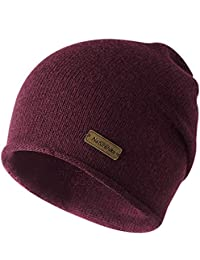 Berretto Beanie Donna Cappello Lana Berretto Running Uomo Lungo Slouch  Invernale Snowboard Skate Skiing Hiking Trekking 74a09a79be2a