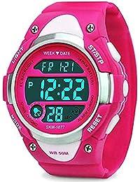 75ac4ca19fd2 Deportes Al Aire Libre NiñOs Sencillo Reloj ElectróNico Estudiante  Temporizador Alarma Reloj Luminoso Impermeable Reloj Infantil