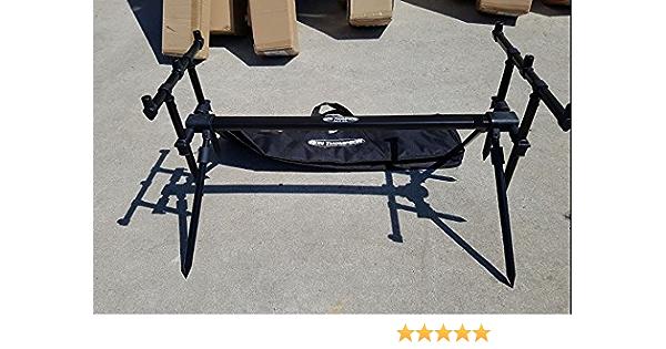 Ron Thompson Lux All Black Rod Pod Plus Carry Case Carp Fishing 58765
