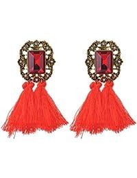 Webla Femmes Vintage Rhinestones Stud Tassel boucles d'oreilles Gorgeous Jewelry