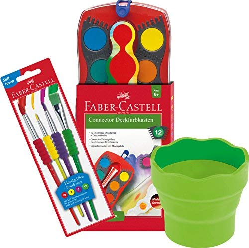 Faber-Castell - Farbkasten Connector mit 12 Farben,, gebraucht gebraucht kaufen  Wird an jeden Ort in Deutschland