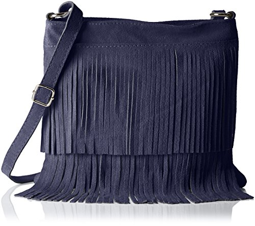 Bags4Less Damen Tipsi Umhängetasche, Blau (Marine-Blau), 10x30x30 cm (Marine-blau-handtasche)