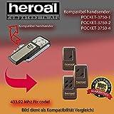 Handsender 433.92 MHz für HEROAL POCKET - 3750-1 , 3750-2 , 3750-4 Antriebe