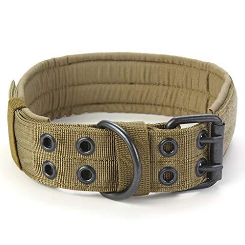 The World's First Einstellbare Hundehalsband Hundehalsband Doppel Metall D Ring Schnalle -