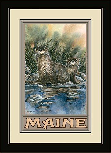 Northwest Art Mall ba-3450mfgdm OTT Maine Otter gerahmtes Wandbild Art von Künstler Dave bartholet, 13von 40,6cm