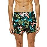 Pantalones Cortos Running Hombres ZARLLE Hombre Pantalones Cortos de Playa Secado Rápido Bañador Estampado Beach Shorts