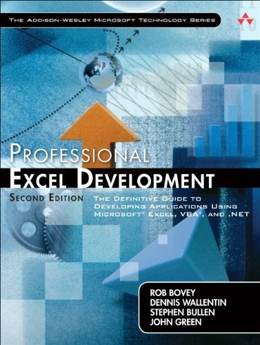 Professional Excel Development: The Definitive Guide to Developing Applications Using Microsoft Excel, VBA, and .NET: The Definitive Guide to ... and VBA (Addison-Wesley Microsoft Technology) by Rob Bovey (2009-05-06) par Rob Bovey; Dennis Wallentin; Stephen Bullen; John Green;