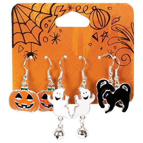 nge, Halloween, Kürbis-Katzen, Ghosts, Metall, 3 Stück ()