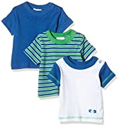 Twins Baby-Jungen T-Shirt, 3er Pack , Mehrfarbig (Weiss/Marine 810012), 74