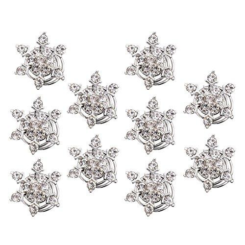 Contever® 10 Stück Simulierten Kristall Schneeflocke Strudel Haar Verdreht Spulen Spiralen Haarspange Clip Zubehör für Hair Style