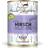 Erlebnis Hund Hundefutter 90% Hirsch mit Kartoffeln 800g getreidefrei - Reinfleisch Premium Nassfutter Dosenfutter