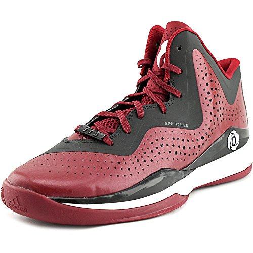 Adidas D Rose 773 III Men's Basketball Shoe 10 Aluminum-Nero-bianco (Maroon-Black-White)