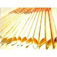 Preisvergleich für 30 KONISCHE OHRKERZEN ZweiohrkerZen aus Bienenwachs hergestellt mit Trägermaterial Baumwolle (15 Paar) mit Abbrennmarkierung...
