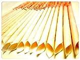 30 KONISCHE OHRKERZEN ZweiohrkerZen® aus Bienenwachs hergestellt mit Trägermaterial Baumwolle (15 Paar) mit Abbrennmarkierung und Filter - Geruch neutral - HOPI Candle