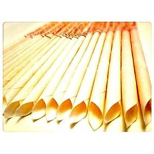 30 KONISCHE OHRKERZEN ZweiohrkerZen aus Bienenwachs hergestellt mit Trägermaterial Baumwolle (15 Paar) mit Abbrennmarkierung und Filter – Geruch neutral – HOPI Candle