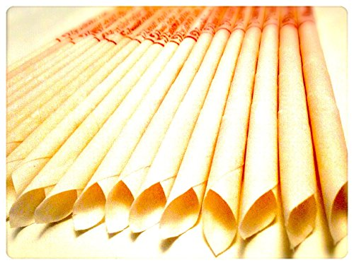 *30 KONISCHE OHRKERZEN ZweiohrkerZen® aus Bienenwachs hergestellt mit Trägermaterial Baumwolle (15 Paar) mit Abbrennmarkierung und Filter – Geruch neutral – HOPI Candle*
