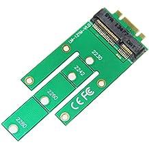 BlueBeach® NGFF M.2 PCI-E 2 carriles a mSATA 50mm Mini PCI-E 18 + 8 unidades SSD duros