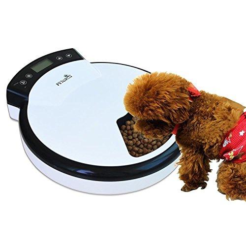 Automatisierte Futterspender, Lebensmittel-Dispenser für Hunde und Katzen - Alarme der Funktionellen Verteilung, Teil Kontrolle & Stimme Aufnahme - Zeitmesser Programmierbar Bis zu 5 Mahlzeiten pro Tag