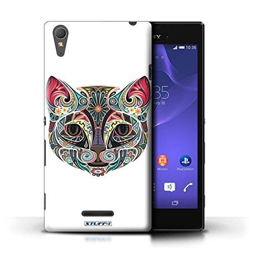 Kobalt® Imprimé Etui / Coque pour Sony Xperia T3 / Papillon conception / Série Animaux décoratifs Chat