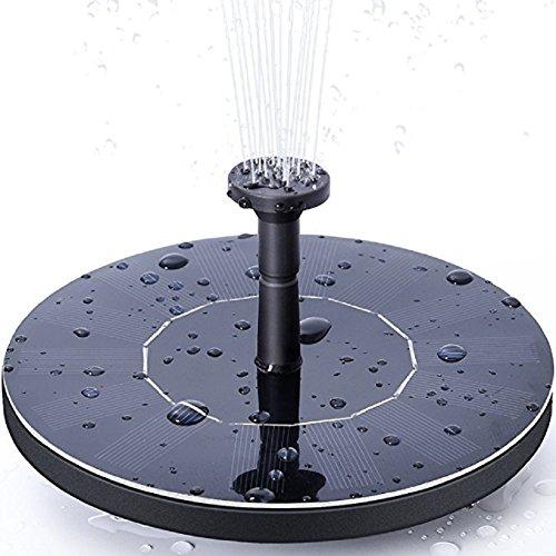 Handfly solare fontana pompa,1.4w pompa da acqua solare per esterni kit pannello pompe da esterno pompa idromassaggio da innaffiamento per giardino e patio