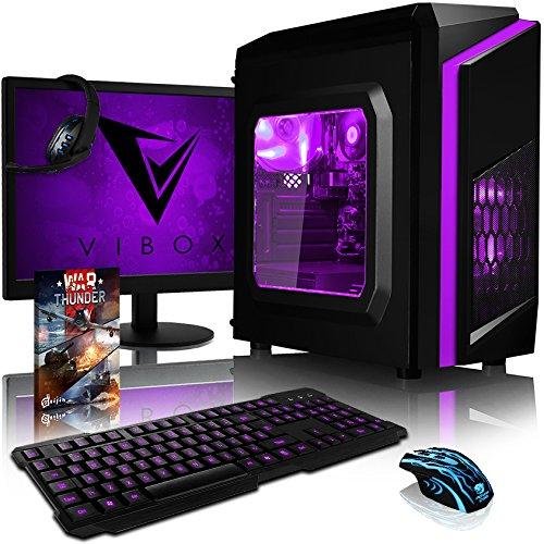 VIBOX Pyro SA6-141 Pack PC Gamer - 4,1GHz APU Dual Core AMD A6, Radeon 8470D Graphiques intégrés, Budget, À Bas Prix, Multimédia, Ordinateur PC de Bureau Gaming paquet de jeux, avec Écran, Éclairage Interne Vert (3,9GHz (4,1GHz Turbo) Processeur APU/CPU Dual Core AMD A6-6400K Ultra Rapide, Radeon 8470D Graphiques intégrés, 16 Go Mémoire RAM DDR3 1600MHz Grande Vitesse, Disque Dur Sata III 7200rpm 1 To (1000 Go), PSU 400W 85+, Boîtier Gamer CIT Storm Vert, Pas de Système d'Exploitation Windows)
