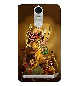 FUSON Devi Lakshmi Killing Mahishadssurr 3D Hard Polycarbonate Designer Back Case Cover for Lenovo K5 Note :: Lenovo Vibe K5 Note Pro