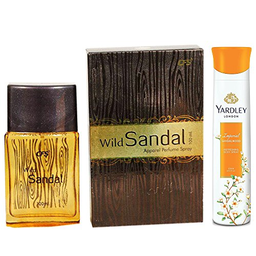 CFS Wild Sandal Perfume and Yardley Imperial Sandalwood Body Spray Combo