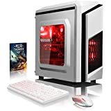 VIBOX Pyro GL950T-253 Gaming PC - 4,2GHz AMD FX CPU 8-Core, GPUGTX1050 Ti, Avanzado, Multimedia, Ordenador de sobremesa para oficina Gaming vale de juego, con unidad central, Iluminaciàninterna rojo (4,0GHz (4,2GHz Turbo) SuperrápidoAMDFX8350Ocho8-CoreProcesadorCPU, Nvidia GeforceGTX1050 Ti 4 GB TarjetagráficaGPU, 16 GB Memoria RAM de DDR3 1600MHz, 2TB(2000GB)SataIII7200 rpmdiscoduroHDD, Fuente de alimentaciàn de 85+, CIT de F3 cajaBlanco, Ningún sistema operativo)
