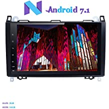 "Android 7.1 Autoradio, Hi-azul 1 Din Radio de Coche 9"" Navegación GPS De Coche RAM 2G Auto Radio Estereo con Pantalla Multitáctil para Mercedes-Benz A-W169, B-W245, Viano, Sprinter, Vito (Autoradio)"
