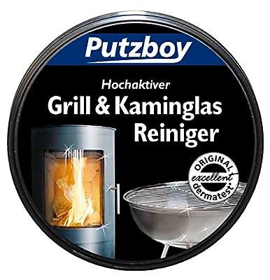 Poliboy Putzboy Grill- und Kaminglasreiniger mit Schwamm, 250 ml Dose