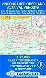 Vinschgauer Oberland: Wanderkarte Tabacco 043. 1:25 000 (Cartes Topograh, Band 43) - Tabacco