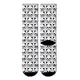 DYDONGWL Calcetines/5 Par / 3D Impreso Lindo Panda Crew Calcetines Hombres Divertido Animal Panda Oso Calcetines Largos Kawaii Tube Vestido Calcetines para Hombre
